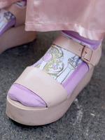 2018SS女鞋凉鞋街拍时尚