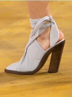 2020SSBurberry女鞋凉鞋T台