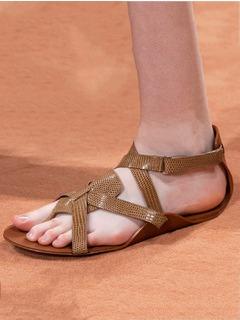 2020SSHermes女鞋凉鞋T台