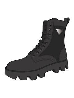 男鞋靴子设计手稿