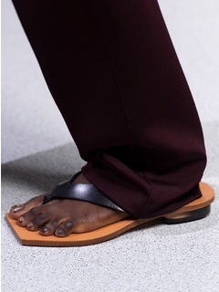 2020SSGivenchy女鞋拖鞋T台